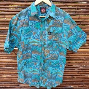 Vintage Hang Ten Short Sleeve Shirt Size M